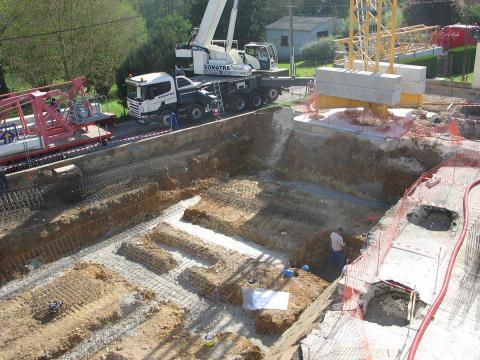 Les fondations, un sous-sol est prévu