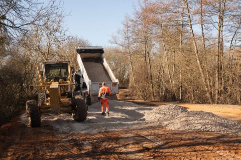 26-02-2019 aménagement calcaire de la voie automobile
